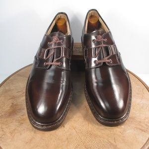 Vintage 1990s J&M Passport brown Oxfords size 10M